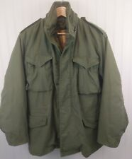 VINTAGE US ARMY 70s 1972M-65 FIELD JACKET SMALL REGULAR with LINER Ownbey GUC