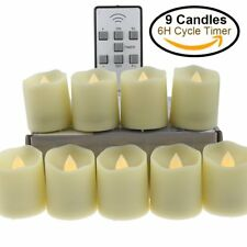 【Timer】Flameless LED Tea Light Candles,18-Batteries Included, Electric Plastic..