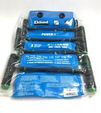 Eklind 68688 Power 'T' Torx Key Set in Plastic Pouch (8 Piece)