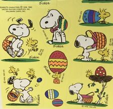 Vintage Snoopy Hallmark Stickers Easter 80s Peanuts Shultz Woodstock