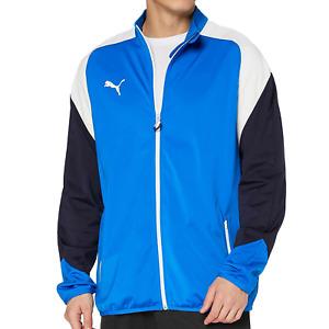 Mens Puma Esito Track Jacket Poly Tricot Sports Zip Up Top Retro Vintage Size...