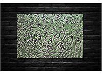 Keith Haring - Homo Decorans - Pop Art Canvas Wall Art Framed Print