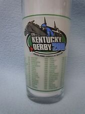 2000 Kentucky Derby #126 Drinking Glass Tumbler Horse Race Churchill Downs