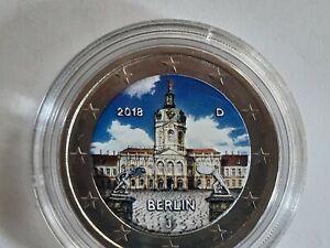 2 euro colorisée couleur 2018