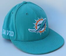 Miami Dolphins NFL DAVID Baseball Cap Hat 7 1/2 Fitted RAISED Dolphin NEW ERA