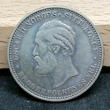 Norway silver coin 2 kroner 1890