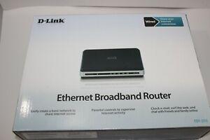 D-Link 4-PORT Ethernet Wired Broadband Router EBR-2310 10/100Mbps LAN 4 Ports
