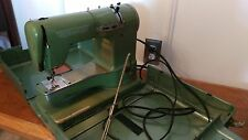 Vintage ELNA Supermatic Sewing Machine with Metal Case - Green Machine - Awesome