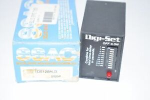 NEW SSAC TDS120ALD TIMER SINGLE SHOT 120VAC RELAY 1 1023S 11-PIN DPDT LED