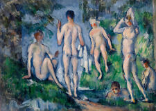 Group of Bathers by Paul Cézanne 60cm x 43cm Art Paper Print