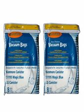 Kenmore Type M Sears 51195 Magic Blue LG Vacuum Bags 16PK