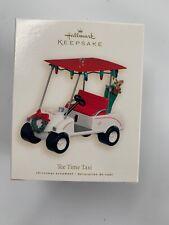 New listing Hallmark Keepsake Christmas Ornament Tee Time Taxi 2007 Golf Cart