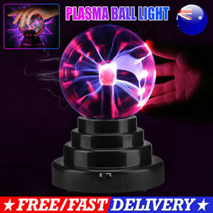 14cm Glass Magic Plasma Ball Globe Touch Sensitive Night Light Lamp Electric AU
