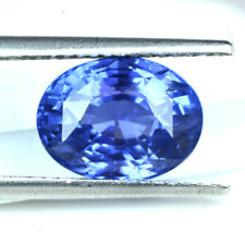 Natural Certified Oval Cut Blue Sapphire 3.55 Cts Unheated Gemstone Ceylon Offer