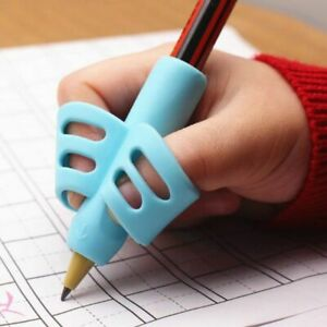 Pen Holder Kid Writing Learn Pencil Correction Finger Place Adjust Silicone Gift