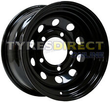 x4 16x8 BLACK MODULAR STEEL WHEELS ET00 JEEP CHEROKEE FITMENT 5x114.3
