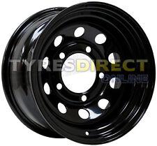 x4 16x8 BLACK MODULAR STEEL WHEELS ET00 JEEP CHEROKEE FITMENT 5x114.3