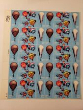 US SCOTT 2032 - 2035 PANE OF 40 HOT AIR BALLOONING STAMPS 20 CENT FACE MNH