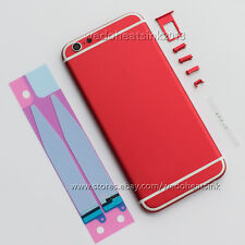 Black / Red & White Stripes Back Housing Battery Door Cover For iPhone 6 6S Plus