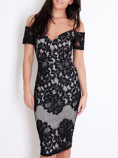 Womens Lace Cold Shoulder Dress 8 10 12 Occasion Party Sexy Dress