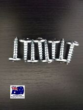 8 x ANTI THEFT NUMBER PLATE SECURITY SCREWS ONE WAY SUIT MOST CARS TRUCKS