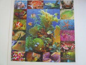 Complete 500 Piece Springbok Puzzle.  Tropical Water Animals.