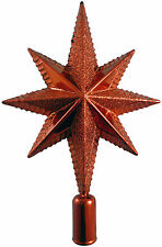 25cm RED Glittery Tree Top Christmas Star - Christmas Tree Topper - (PM116)