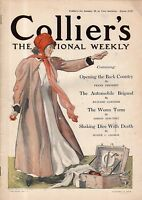 1910 Collier's January 15 - Automobile racing and sales; King Leopold funeral