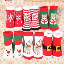 Christmas Xmas Baby Cotton Stockings Winter Warm Kids Children Santa Claus Socks