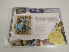 Willabee Ward Disney Collector Patch 1991 BELLE BEAUTY & THE BEAST & FACT CARD