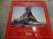 RODNEY MATTHEWS - 1986 Kalender -  FANTASY musik Motive Magnum Band SF Rock