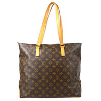 LOUIS VUITTON CABAS MEZZO HAND TOTE BAG AR1004 PURSE MONOGRAM M51151 70365