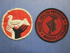 VINTAGE VIETNAM ERA HIDDEN BLACK POWER FIST MALCOLM X COLLEGE CHICAGO PATCHES IL