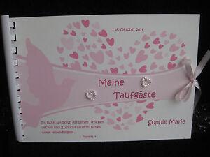 Gästebuch Taufe Din A5  Mädchen Junge Taufbuch personalisiert Geschenk Deko