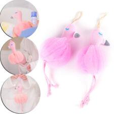 Flamingo Bath Scrubber Shower Spa Sponge Cleaning Scrub Mesh Shower Ball _hc