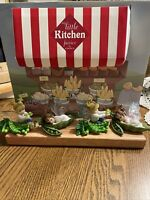 Enesco My Little Kitchen Fairies 2007 Fresh Market Display Piece with 4 Figures