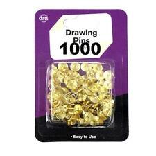 1000x Thumb Tack Push Pin Brass Gold Decorative Thumbtack Upholstery Vintage