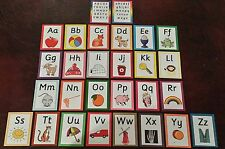 A- Z Alphabet Flash Cards  lower case + capitals - Picture + Phonics sounds