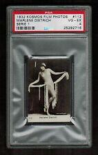 PSA 4 MARLENE DIETRICH 1932 Kosmos Cigarette Tobacco Card #112