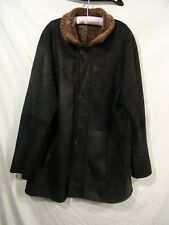 Sinclair Shearling Leather Wool Coat adult  Made in Italy Originale 2XL/3XL