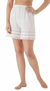 """Velrose 18"""" Cotton Knit Culottes with 3 Layer Lace (3386)"""
