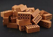 Ziegelsteine Lochsteine Mauersteine Miniatur 32x16x12 mm groß Diorama Modellbau