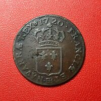#1499 - RARE - Louis XV Demi sol au buste enfantin 1720 BB Strasbourg - FACTURE
