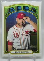 Joey Votto 2021 Topps Heritage Card 45 Chrome Parallel #485/999 Cincinnati Reds