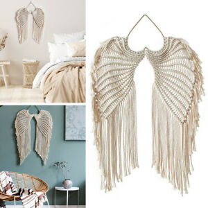New Macrame Boho Tapestry  Angel Wing Woven Wall Hanging Home Decor Gifts