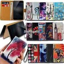 For Vivo Smartphones Flip Leather Card Wallet Stand Cover Phone Case +Strap