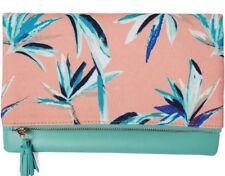 *NEW* Rachel Pally Reversible Clutch Paradise Coral Mint