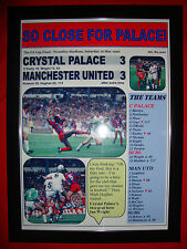 Crystal Palace 3 Manchester United 3 - 1990 FA Cup final - framed print