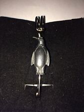 """Penguin W7 Scarf , Brooch and Kilt Pin Pewter 3""""  7.5 cm"""