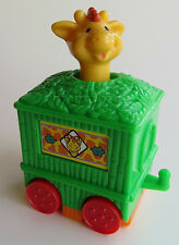LOOSE U-3 McDonald's Fisher Price Under 3 GREEN GIRAFFE Circus Train Car Toy 114